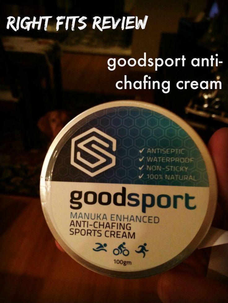 Fits do Product Reviews: GoodSport Anti-Chafing Cream