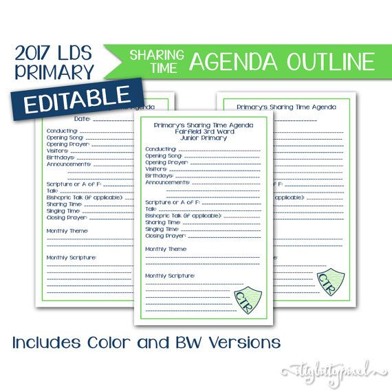 117 best primary images on Pinterest Lds primary, Activity days - agenda outline
