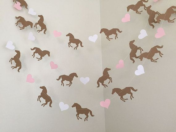Horse Birthday Party Decorations Pony Garland Horse Garland Cowgirl Theme Room Decor Saddle Up Horse Baby Shower Decor Custom Colors 10FT