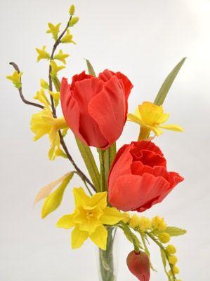 Sugar Daffodils and Tulips by Paddi Clark
