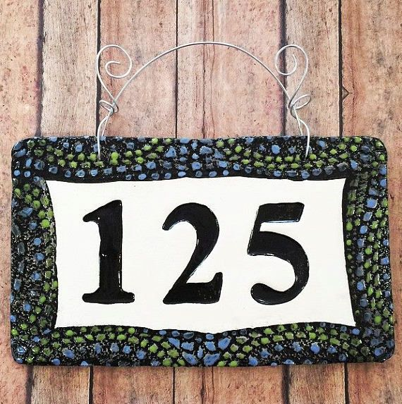 14 best House number tile images on Pinterest House numbers