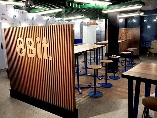 Been working on the fitout at the new digs for popular @eat8bit burger joint in Melbourne CBD. Rumour has it that it's opening today!! Go indulge in one of their delicious burgers, a cheeky beer, and check out our handiwork! #newdigs #fitout #melbournefitout #melbournebar #burgersofmelbourne #timber #install #melbournefood #melbournetodo #melbourneeats #interiorsmelbourne #bomboracustomfurniture