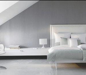 Les 23 meilleures images propos de deco chambre for Chambre violet et gris perle