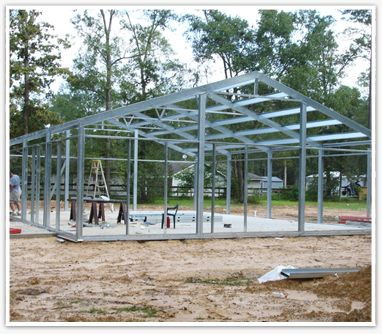 A do-it-yourself steel framed house intrigues me.
