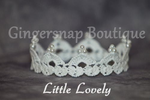 princess crowns crochet patterns free | Little Lovely Crown by GSnapBoutique | Crocheting Pattern