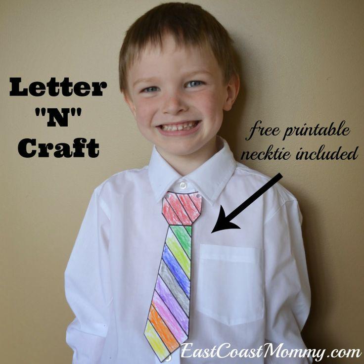Alphabet Craft letter N Free printable