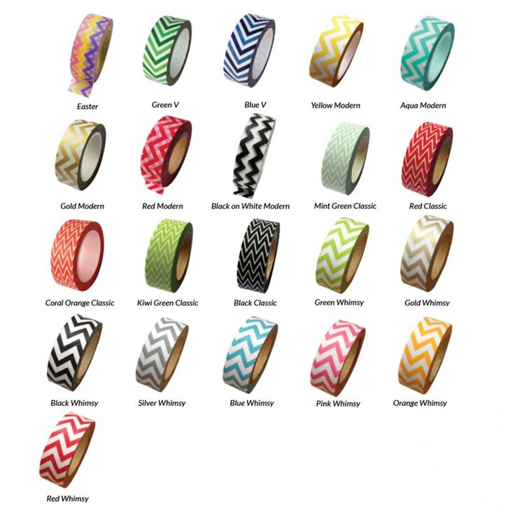 Chevron Stripe Zig Zag Japanese Paper Washi Tape - Available in 21 Styles! [Decorative Chevron Stripes Tape] : Wholesale Wedding Supplies, Discount Wedding Favors, Party Favors, and Bulk Event Supplies