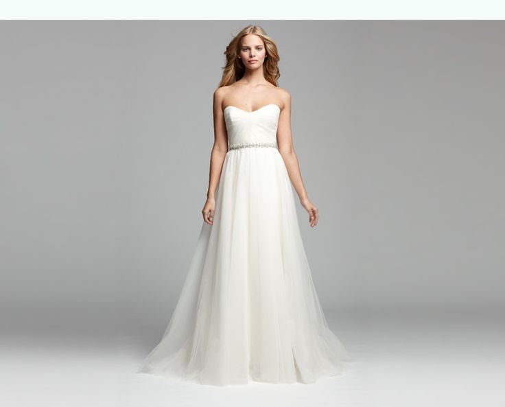 Beaded-Waist Tulle Gown (#R104U)  Amsale  http://shop.nordstrom.com/c/nouvelle-amsale-lookbook?origin=leftnav