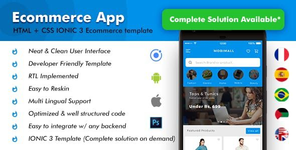 Mobimall eCommerce IONIC App is the best app for any type of