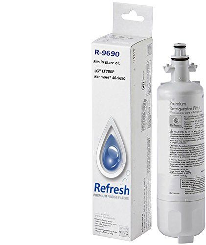 Kenmore 46-9690 / LG LT700P, ADQ36006101 Compatible Refrigerator Water Filter – fits Kenmore ADQ36006102 & LG Refrigerator Water Filters by…