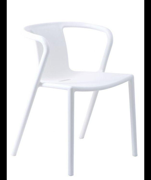 Krzesło Aria - białe - eva-designart - Krzesła