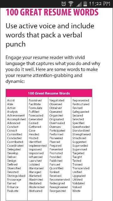 action resume words resume action verbs career orientation