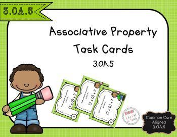Associative Property of Multiplication Task Cards 3.OA.5