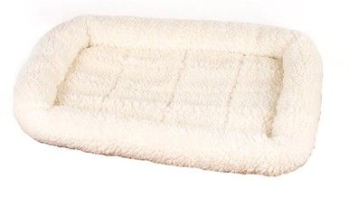 Four Paws K-9 Keeper Sleeper Crate Pad Natural 18.5 inch x 14 inch With Rolled Pillow