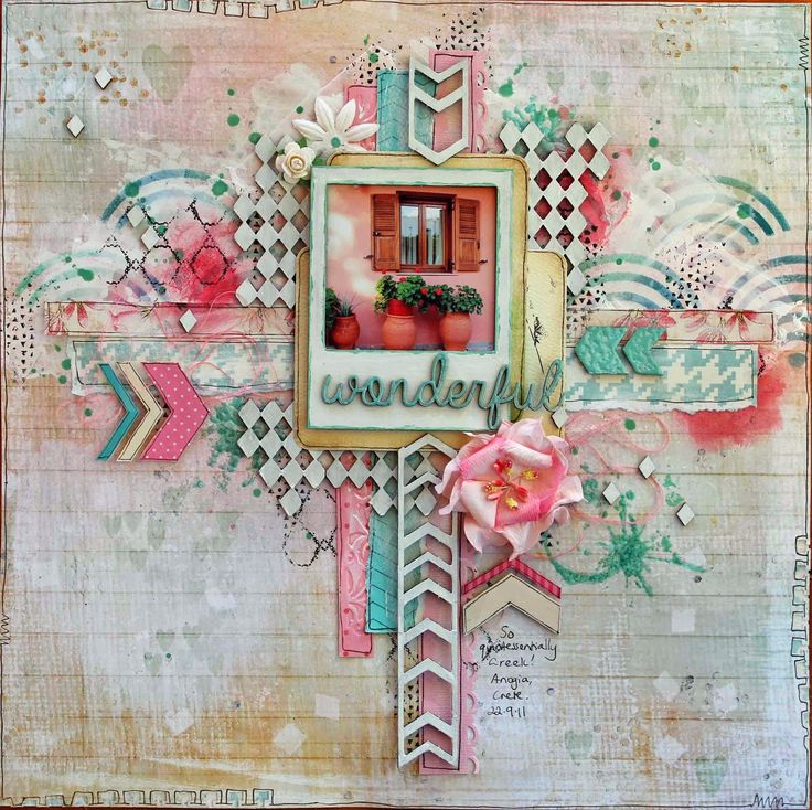 Created by Heather McMahon for Brisbane Scrapbooking and Papercraft Expo class, 2014.