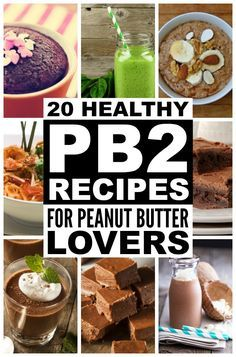 From Skinny Shrimp Pad Thai and a deliciously Healthy Thai Chicken Salad, to Flourless Chocolate Brownies and drool-worthy Peanut Butter Oatmeal Cookies, this collection of healthy PB2 recipes is a peanut butter lover's dream come true!