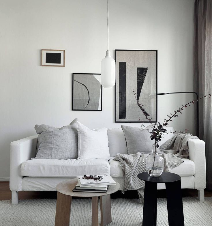 Living Room : Small Studio With A Neutral Decor Via Coco Lapine Design Blog