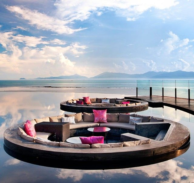 Wow, what a way to relax: Whotel, Living Rooms, Kohsamui, Retreat Koh, W Hotels, Koh Samui Thailand, Design, Sit Area, Fire Pit