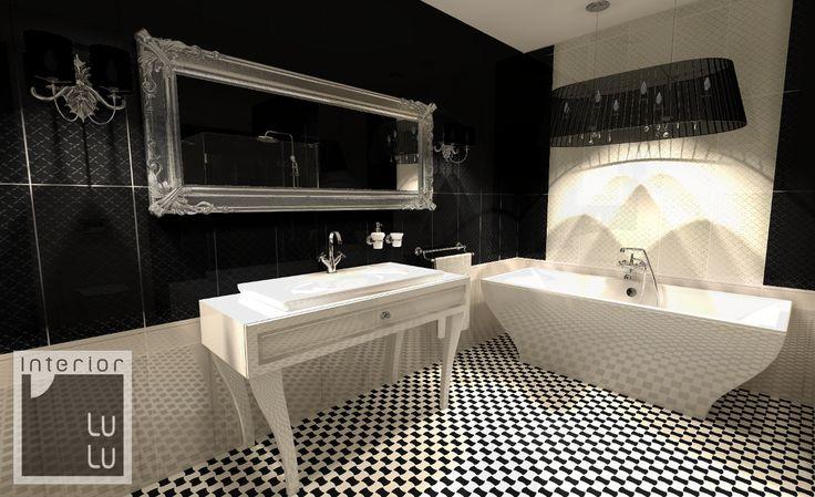 Elegancka łazienka glamour