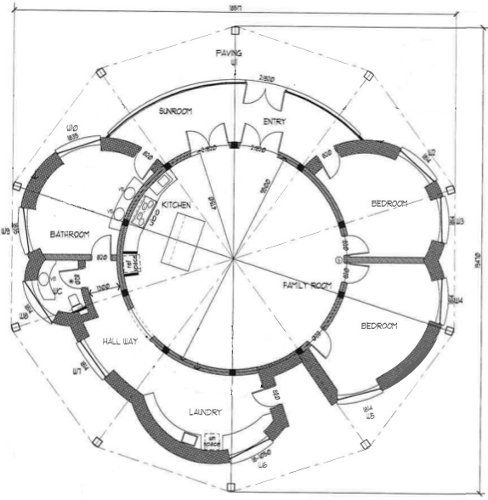 Circular House Floor Plans | Round House Plans, Round Home Plans, Round  House Floor