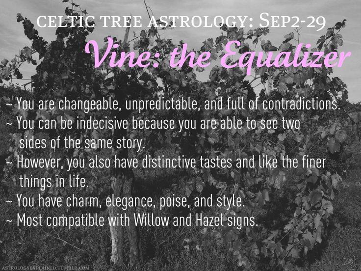 Celtic tree astrology - Vine