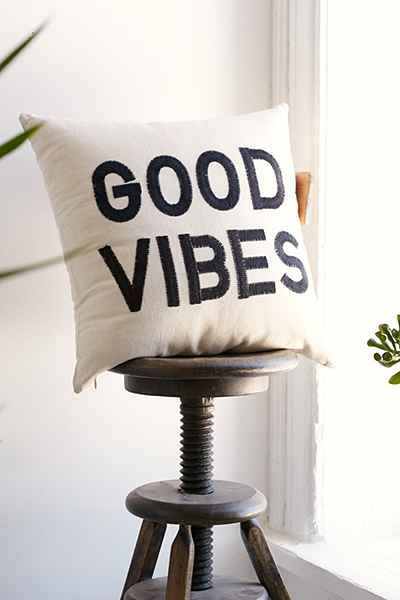 Magical Thinking Good Vibes Pillow - Urban Outfitters #UOonCampus