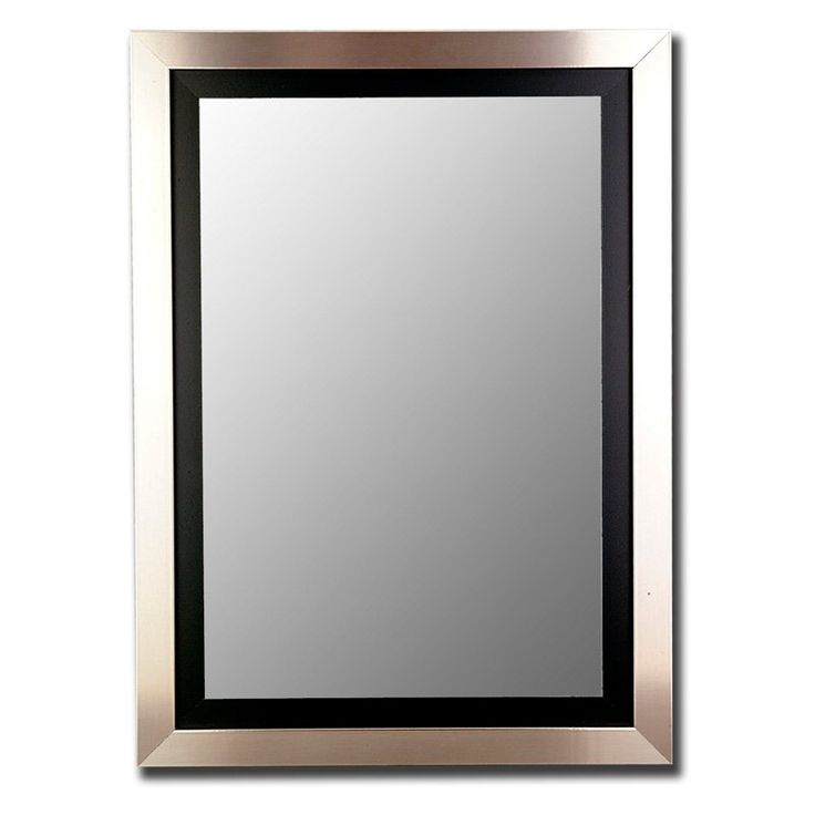 Silver Over Black Wall Mirror - 25780