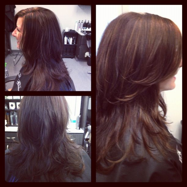 Long, layered locks from Staiy T @bloomdotcom