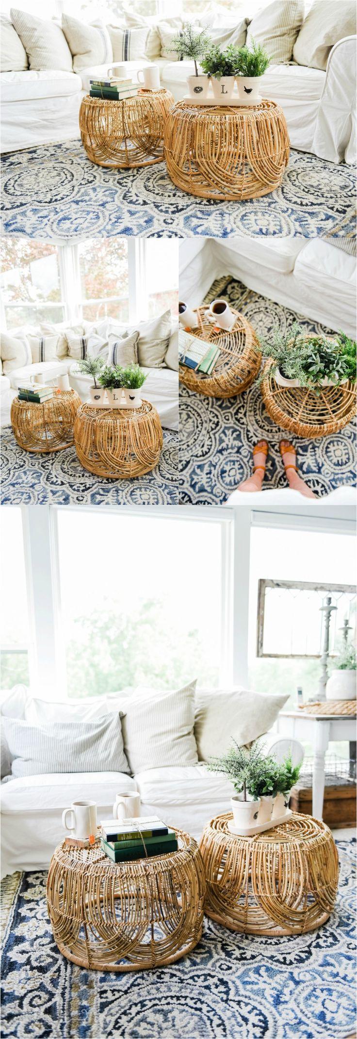 DIY Basket Coffee Table