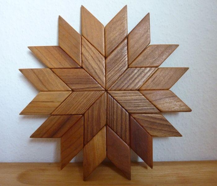 Holz Untersetzer Stern von HelloPolly auf DaWanda.com