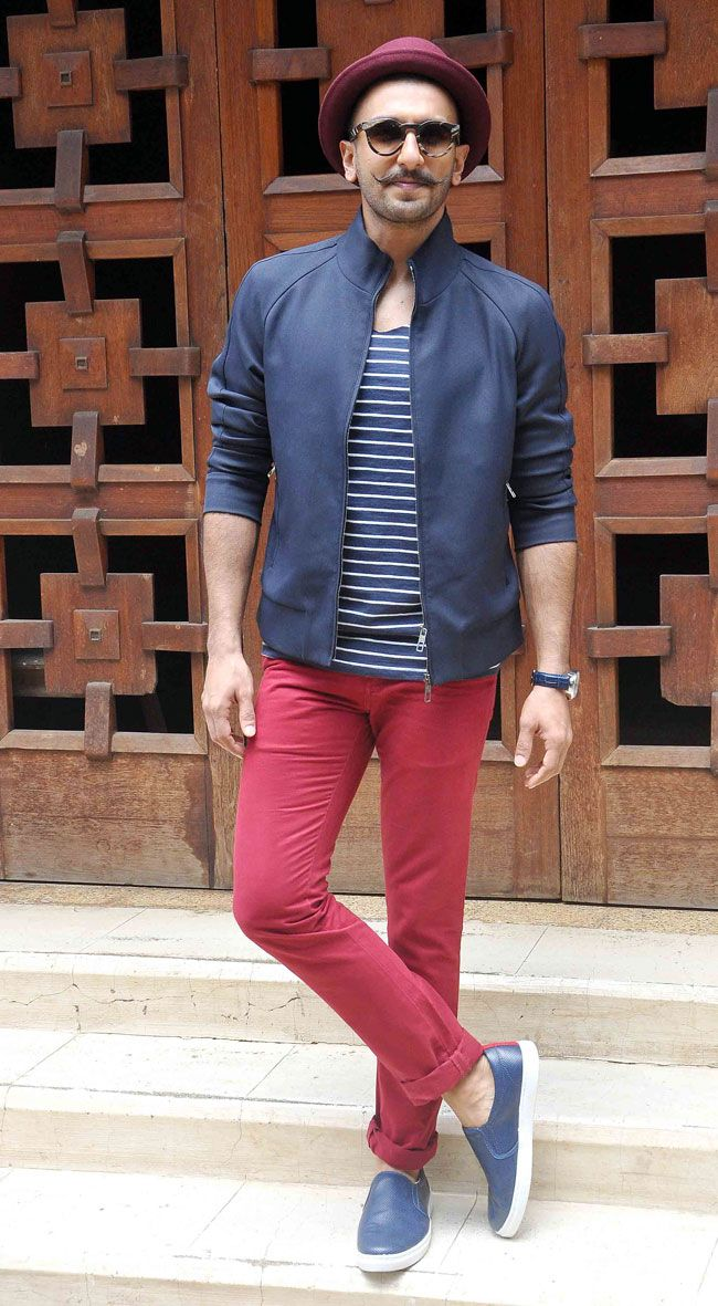 Ranveer Singh promoting 'Dil Dhadakne Do'. #Bollywood #Fashion #Style…                                                                                                                                                     More