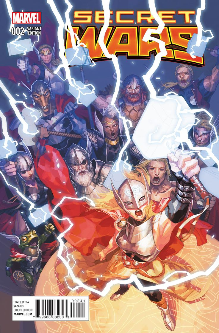 Secret Wars #2 variant cover - All New Thor •Stéphanie Hans