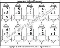 Addition – Single Digit – 1 Worksheet
