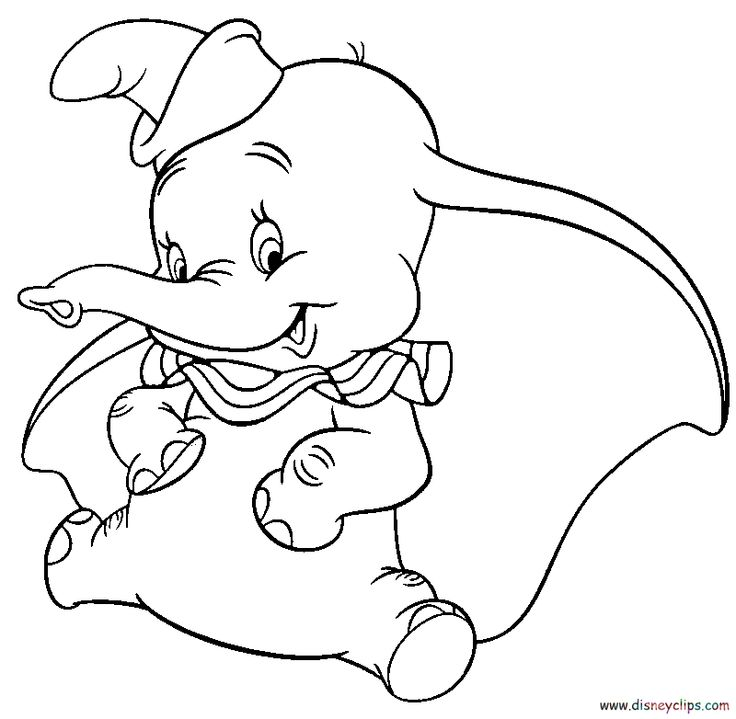 dumbo coloring pages disney kids games - Dumbo Elephant Coloring Pages