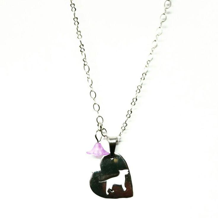 #dog #bullterrier #heart #love #cuore #cane #bijoux #jewerly #handmadeinlove #handmade #madewithlove #flower #woman