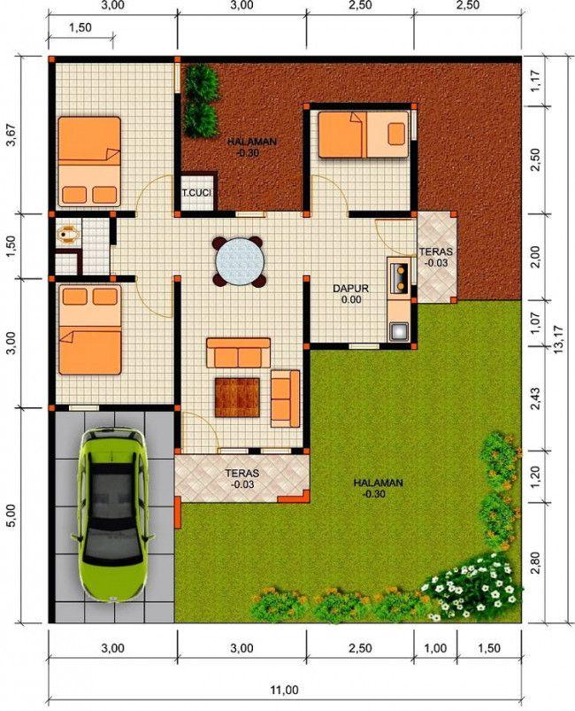 5 Kreasi Terbaru Rumah Minimalis 3 Kamar Denah Rumah Desain Rumah Rumah