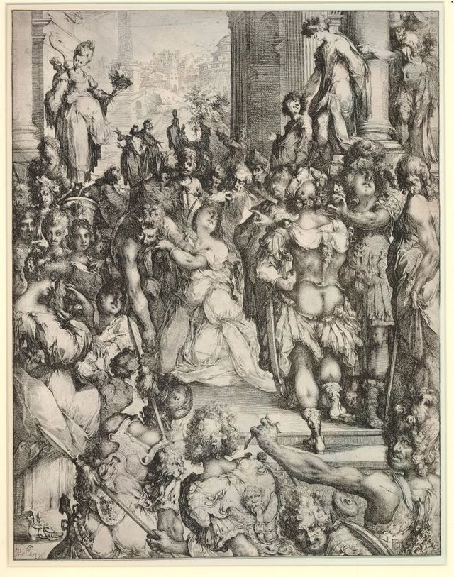 The Martyrdom of St. Lucy (c.1613)