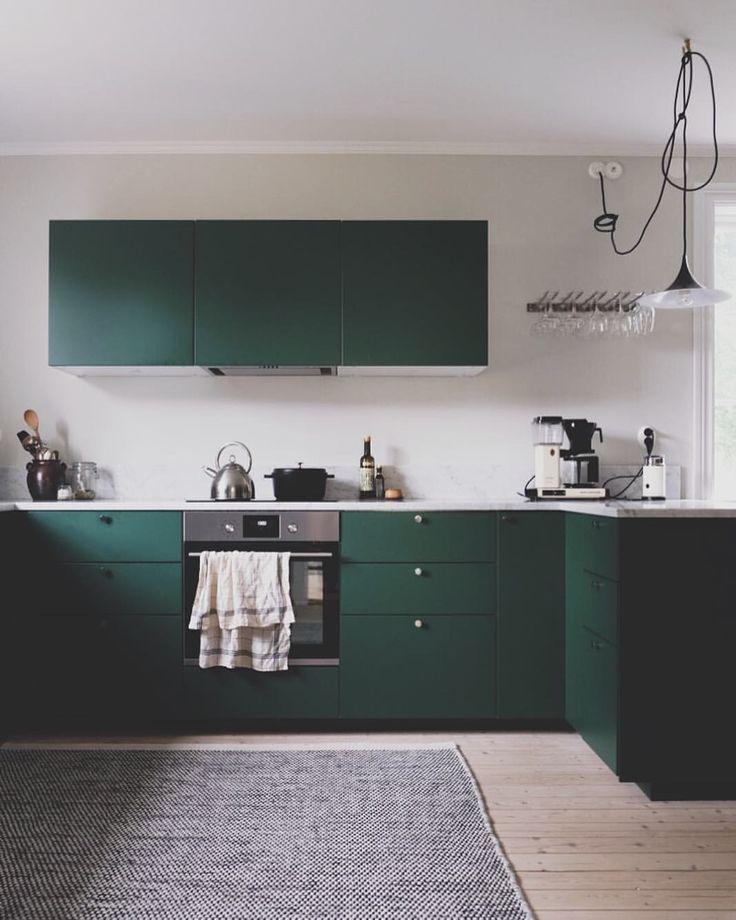 """Love that color for a kitchen - Emma Solveigsdotter (@solveigsdotter) sur Instagram : """""""""""