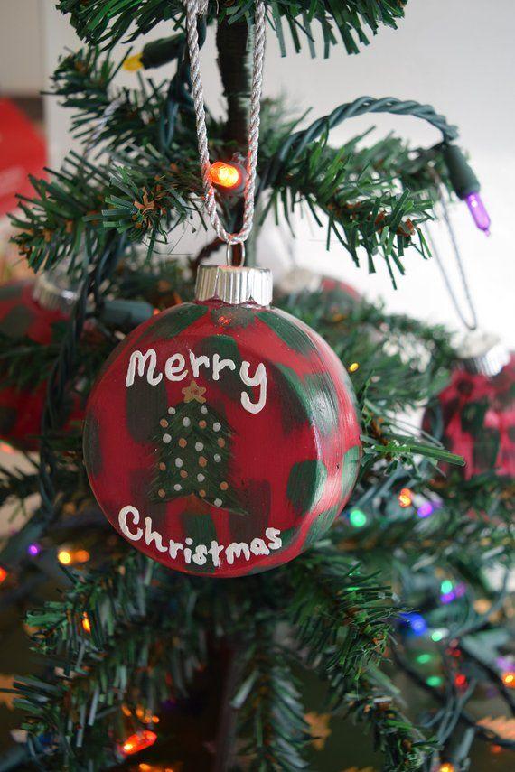 Original Acrylic Hand Painted Unbreakable Plastic Shatterproof Etsy Christmas Bulbs Christmas Tree Decorations Christmas Ornaments