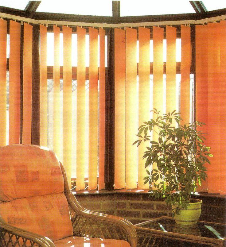 Orange Vertical Blinds Design - Decoseecom