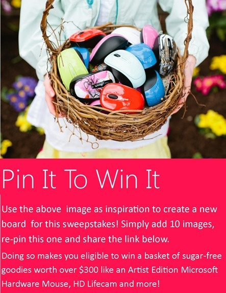 A #pinterest #contest just in time for Spring with @msfthardware !    Full rules here: http://windowsteamblog.com/windows/b/windowsexperience/p/spring.aspx