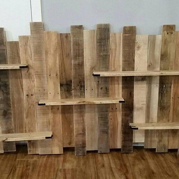 906 best pallet shelves images on pinterest pallet ideas for Pallet wall shelf