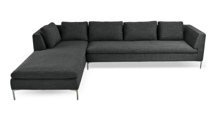 Mayfair Dark Grey Corner Sofa Right