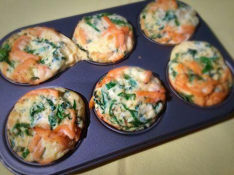 herzhafte Muffins mit Lachs und Creme Fraiche