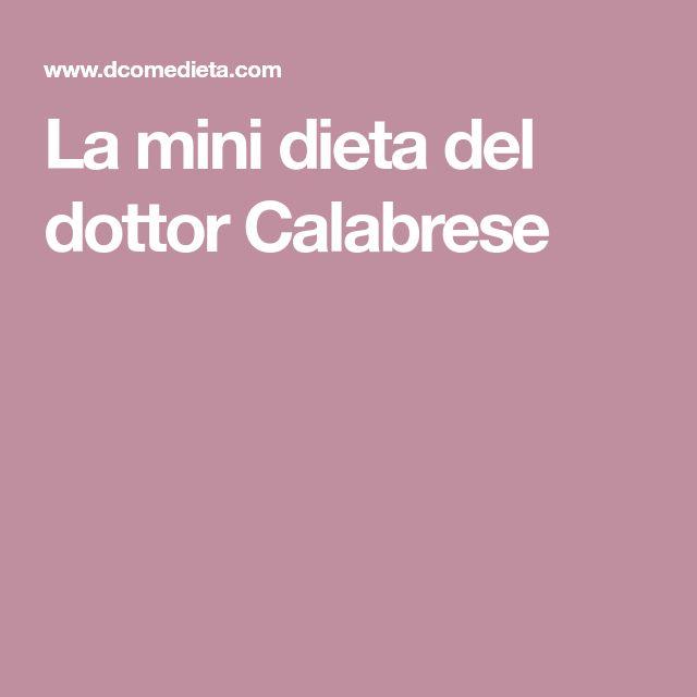 La mini dieta del dottor Calabrese