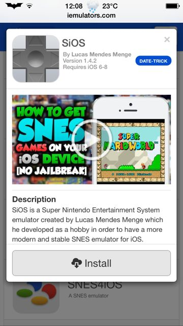 How To Install Super Nintendo (SNES) Emulator SiOS On iPhone, iPod Touch And iPad [No Jailbreak Required] http://jailbreakcentric.com/how-to-install-snes-emulator-sios-ios-device-no-jailbreak-required/ #SNES #Nintendo #SuperNintendo #iOS #Apple #iPhone #iPodTouch #iPad #Games #HowTo