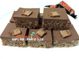 ThermoFun - Mars Bar Crackle Slice Recipe - ThermoFun | making decadent food at home |