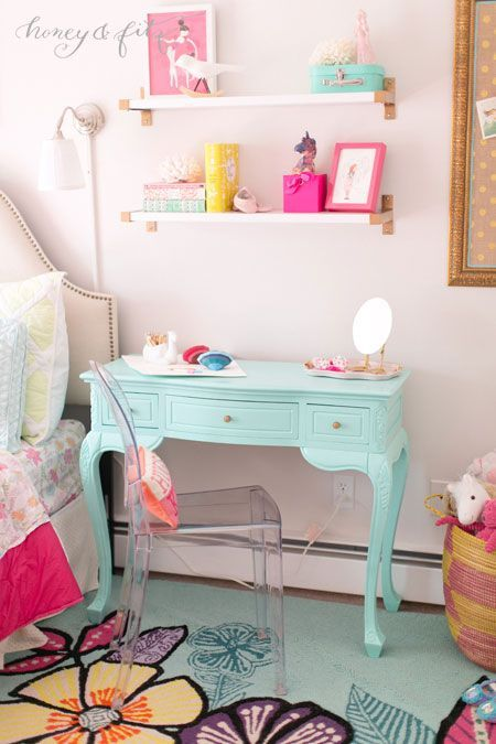 Project Nursery - A-Mermaid-Inspired-Big-Girl-Room-by-Honey-and-Fitz-Overstock-Vanity-LexMod-Chair