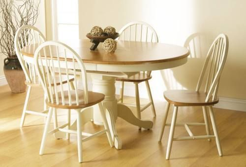 Cotswold Dining set, buttermilk dining table, oak veneer table, windsor dining chair, dining table and 4 chairs.