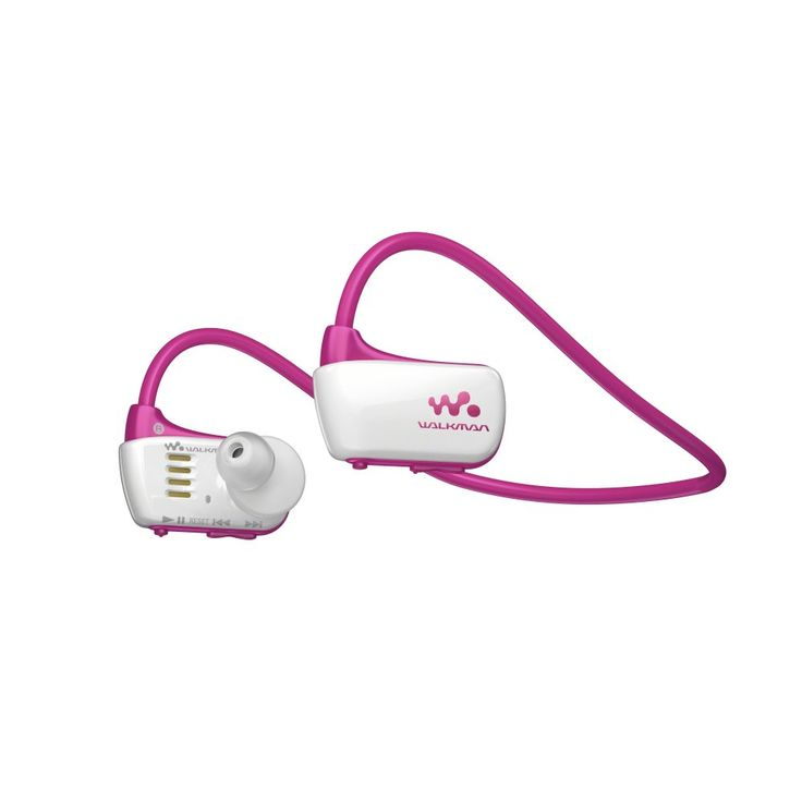 Swim and listen. Sony Waterproof Sports Walkman Pink.